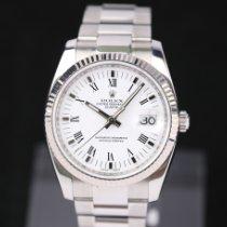 Rolex Oyster Perpetual Date Stahl 34mm Weiß Römisch Deutschland, Rosenheim