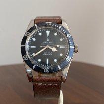 Rolex Submariner (No Date) Zeljezo 37mm Crn Bez brojeva