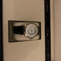 Patek Philippe World Time occasion 39.5mm Blanc Cuir de crocodile