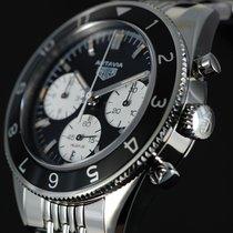 TAG Heuer Autavia Steel 42mm Black No numerals