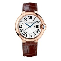 Cartier Ballon Bleu 36mm Rose gold 36mm Silver Roman numerals