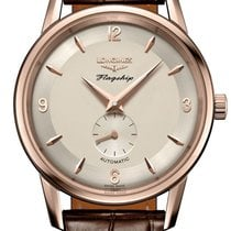 Longines Rose gold Automatic Gold Arabic numerals 38.5mm new Flagship Heritage