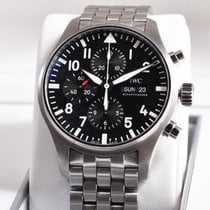 IWC Pilot Chronograph IW377704 Very good Steel 43mm Automatic India, Roma