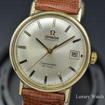 Omega Yellow gold Automatic Silver No numerals 34.5mm pre-owned Seamaster DeVille