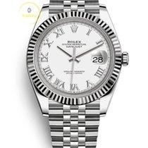 Rolex Datejust Acier 41mm Blanc Sans chiffres