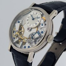 Breguet White gold Manual winding Silver Roman numerals 38mm pre-owned Tradition
