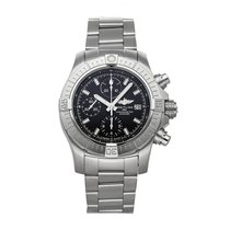 Breitling Super Avenger Steel 43mm Black No numerals