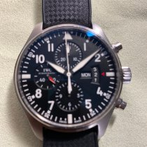 IWC Pilot Chronograph usados 43mm Negro Cronógrafo Fecha Día de la semana Hebilla ardillón