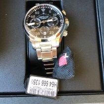 Hamilton Khaki Pilot nouveau 2018 Remontage automatique Chronographe Montre avec coffret d'origine H64666135