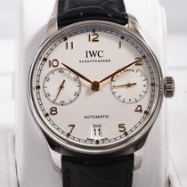IWC Steel Automatic Silver Arabic numerals 42.3mm pre-owned Portuguese Automatic