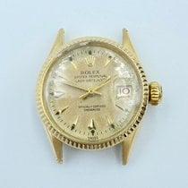 Rolex Oyster Perpetual Lady Date Or jaune 24mm Champagne Sans chiffres