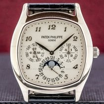 Patek Philippe Perpetual Calendar White gold 37mm Silver Arabic numerals United States of America, Massachusetts, Boston
