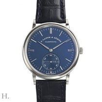 A. Lange & Söhne Saxonia White gold 38.5mm Blue