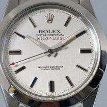 Rolex Milgauss Steel 38mm Silver No numerals