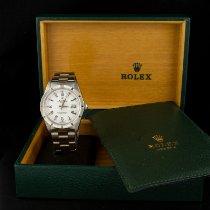 Rolex Oyster Perpetual Date Acier 34mm Blanc Sans chiffres