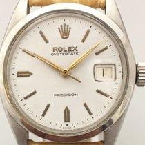 Rolex Oyster Precision Сталь 34mm Белый Без цифр