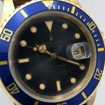 Rolex Submariner Date подержанные 40mm Фиолетовый Дата Кожа аллигатора