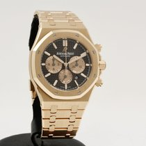 Audemars Piguet Royal Oak Chronograph Or rose 41mm Brun Sans chiffres