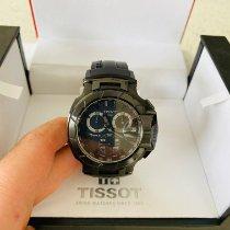 Tissot T-Race rabljen Crn Kronograf Datum, nadnevak Kaučuk