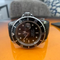 Rolex Aluminum Automatic Black No numerals 40mm pre-owned Submariner Date