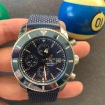Breitling Superocean Héritage II Chronographe gebraucht 46mm Blau Faltschließe