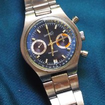 Eberhard & Co. Contograf Steel 37.5mm Blue No numerals