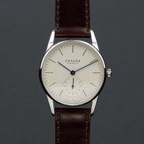 NOMOS Orion 33 pre-owned 33mm White Leather