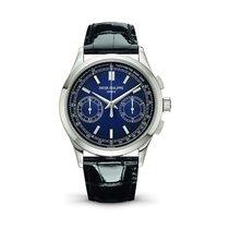 Patek Philippe Chronograph Platinum 39.4mm Blue No numerals