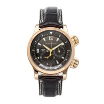Jaeger-LeCoultre Rose gold Automatic Grey Arabic numerals 41.5mm pre-owned Master Compressor Geographic