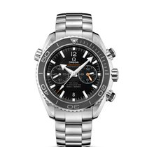 Omega Seamaster Planet Ocean Chronograph rabljen 45,50mm Crn Kronograf Datum, nadnevak Zeljezo