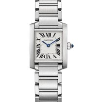 Cartier Tank Française Steel 20mm Silver Roman numerals United States of America, Iowa, Des Moines