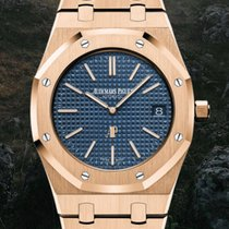 Audemars Piguet Royal Oak Jumbo Rose gold 39mm Blue No numerals United States of America, New York, Brooklyn