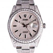 Rolex Datejust Steel 41mm Silver No numerals UAE, Dubai