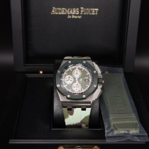 Audemars Piguet Royal Oak Offshore Chronograph Steel 44mm Green No numerals