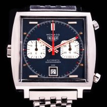 TAG Heuer Monaco gebraucht 39mm Blau Chronograph Datum Stahl