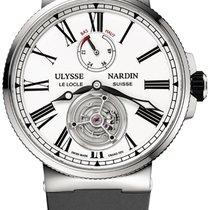 Ulysse Nardin Marine Tourbillon Steel 43mm White Roman numerals