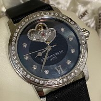 Frederique Constant Ladies Automatic Double Heart Beat Steel 38,5mm Mother of pearl No numerals