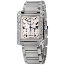Cartier Steel Tank Française 37mm pre-owned United States of America, New York, NEW YORK CITY