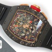 Richard Mille RM 011 Carbon 40mm Transparent Arabic numerals