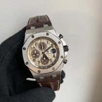 Audemars Piguet Royal Oak Offshore Chronograph Otel 42mm Alb Arabic