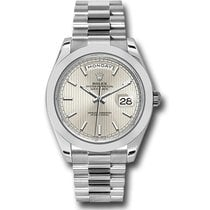 Rolex Day-Date 40 Platinum 40mm Silver No numerals United States of America, New York, New York