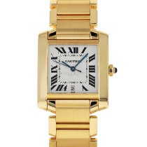Cartier Tank Française Yellow gold 28mm Silver Roman numerals United States of America, Maryland, Baltimore, MD