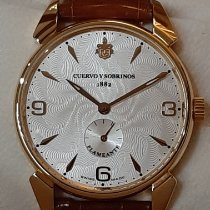 Cuervo y Sobrinos Rose gold 42mm Manual winding C3130.9FA new