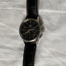 Longines Column-Wheel Chronograph pre-owned 40mm Black Chronograph Date Calf skin