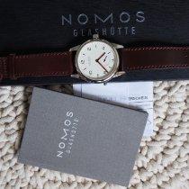 NOMOS Club Datum occasion 38,5mm Argent Date Cuir