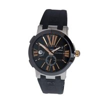 Ulysse Nardin Steel Automatic Black Roman numerals 43mm new Executive Dual Time