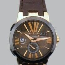 Ulysse Nardin Executive Dual Time Rose gold 43mm Roman numerals United States of America, California, Newport Beach