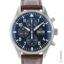 IWC Pilot Chronograph occasion 43mm Bleu Date Affichage des jours Cuir