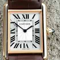 Cartier Tank Louis Cartier Oro rosa 33.7mm Plata Romanos
