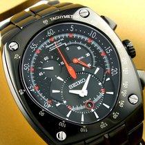 Seiko Sportura новые Кварцевые Хронограф Часы с оригинальными документами